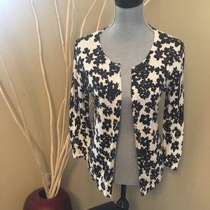 Ann Taylor medium flower cardigan